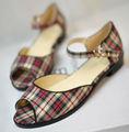 moda venda quente das mulheres tecido flat ballet shoes fotos