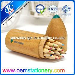 eco friendly 15*4.5cm 12 color pencil box