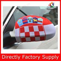 hot selling customized croatia flag car mirror cover for SUV auto
