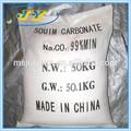 Materia prima para la fabricación de vidrio de la industria-- ceniza de soda densa 99.2% baja de nacl