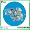 Orthodontic clear ceramic bracket resin braces with metal slot