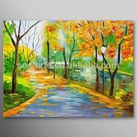 Modern Autumn Landscape Oil Painting