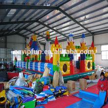 Cartoon large playground amusement park popular inflatable fun city