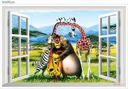 3d pictures home decorationRemovable Carton Design For Kids Original PVC Wall Sticker/Home Decor