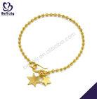 Gold plating star drop jewelry bracelet making supplies