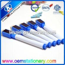 custom mini dry erase marker with eraser/whiteboard marker