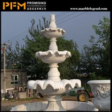 hot sale natural well polished marble made hand carved water fountain angel