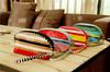 Colorful Stripe Printing PVC Waterproof Large Capacity Cosmetic bag Toiletry Bag For Travel