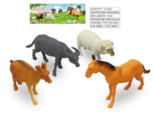 horse sheep set model plastic new realistic farm animal toys with EN71