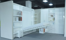 2014 New Design High Glossy Wooden Bed Bedroom Furniture