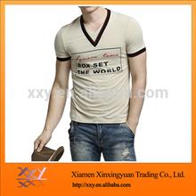 V-neck Digital Printing T-shirts Wholesale Short Sleeves