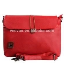 2015 hot selling red pu lady fashion bag,women bag manufacturer,ladies bag designs
