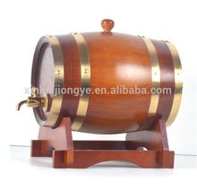 Mancha terminou de madeira sólida barril de vinho aceito OEM