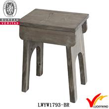 bar 4 leg rectangle rustic wooden old stool