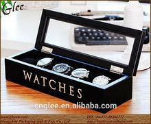 Luxury wooden watch storage box case