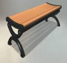 2014 Eco-friendly Durable Wood Plastic Composite WPC Garden Benches