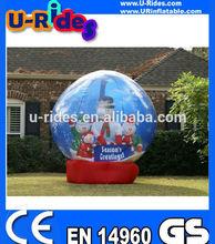 inflatable christmas snow globe decoration