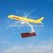 scale aircraft model B757 resin plane model DHL model plane