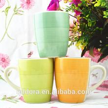 mug With Full Hand-printing For Christmas/Hot Sales stoneware mug With Full Handprinting