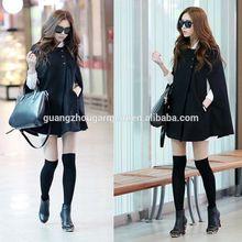 de moda para mujer con alas de murciélago del cabo poncho de lana chaqueta de abrigo de invierno cálido abrigo manto