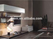Modern living room TV cabinet set wooden wall hanging cabinet