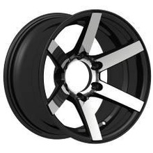 deep concave black replica aluminum alloy wheel rim for car with machined lip16 inch (ZW-P866)