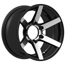 deep concave black replica aluminum alloy wheel rim for car with machined lip16 inch (ZW-P866)