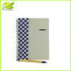 Good Qualtiy Cheap custom paper spiral notebook with pen attached