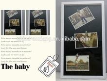 Album di cover di vetro foto fai da te 3 clip con immagini- mdf supporto album di cover di vetro foto