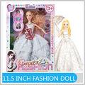 Vendita calda 11,5 pollici fashion ragazza a buon mercato vendita vera bambola