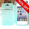 book style Flexible Soft TPU transparent flip cover for Iphone 4G