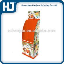 Custom cardboard dump bin display stands light weight for cake