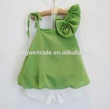 Boutique children girl's clothing sets,off shoulder designs,2014 Summer