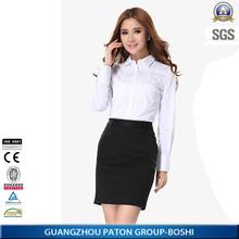 formal long sleeve office uniform design woman shirt