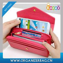 Encai Wholesale Fashion Crown Mobile Phone Clutch Wallet/PU Cell Phone Bag For Apple Phone & Samsung