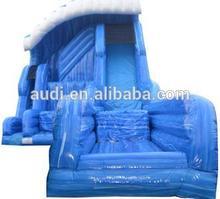 The Shockwave Inflatable slide,2014 newest gigantic jump and slide inflatable combination