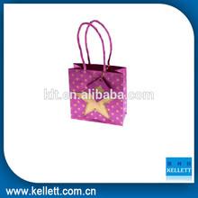 Wholesale fancy pink string gift paper bag,Colorful gift paper bag& Recycled Paper bag