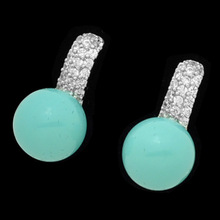 fashion costume jewelry metal earrings