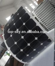 High efficiency Semi flexible 100W 12V/24V monocrystalline solar cell panel with Sunpower cells