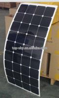 Hot sale 80w,90w,100w,110w,120w Semi flexible monocrystalline solar panel with Sunpower cells with CE,TUV,ROHS