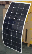 Hot sale 80w,90w,100w,110w,120w Semi flexible monocrystalline solar panel with Sunpower cells with CE,TUV,ROHS