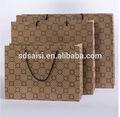 diseño personalizado de regalo de navidad bolsa de papel cuerda china alibaba