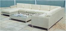 High end outdoor rattan sofa set with U shape