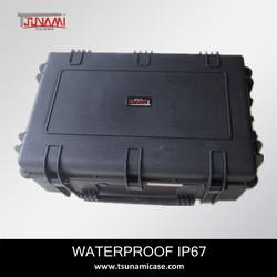 Tough hard plastic waterproof plastic case with handle