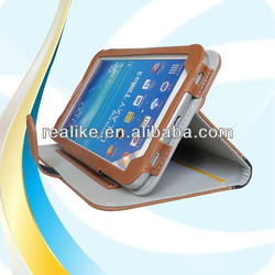 Book Flip folder book leather stand case for samsung galaxy tab 3 7.0
