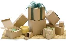 Blanc et naturel KRAFT coffrets cadeaux