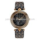 fashion beautiful genuine leather wrist bands New watch leather women 2012