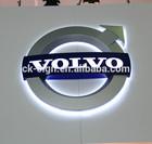Thermoforming plastic led car logo volvo / volvo car logo / volvo car emblem