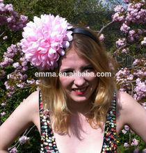 Pastel pink flower 'Pompom' headpiece floral festival headband H173