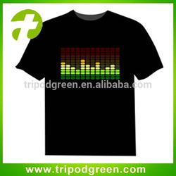 OEM EL t-shirts Customize EL T shirt LED T shirt